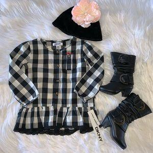 NWT DKNY Buffalo Check Dress 24M